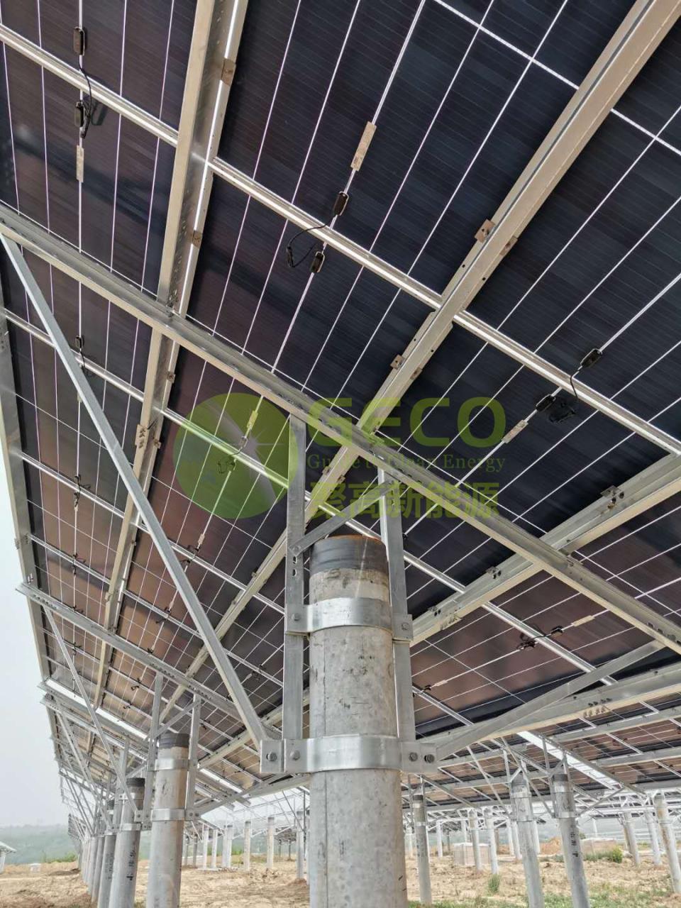 聚高完成隆基铜川40MW光伏电站项目光伏支架供货