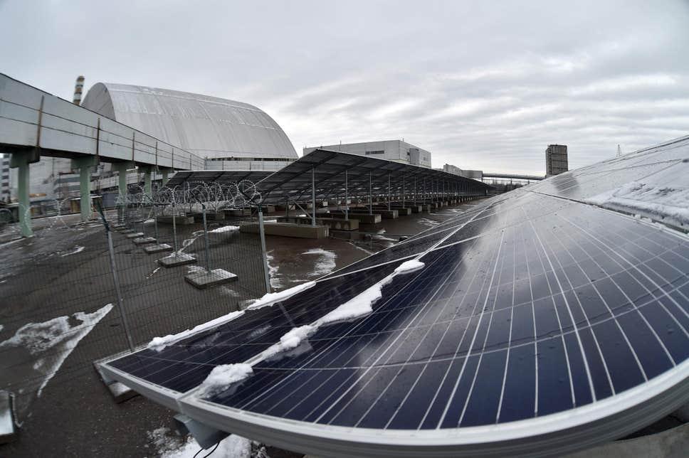 建在切尔诺贝利核灾难现场的太阳能光伏电站