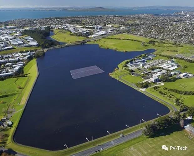 新西兰首例水面漂浮光伏项目并网