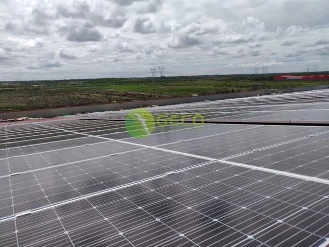 佛山聚高新能源为越南1MW工厂屋顶电站提供光伏支架