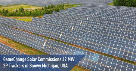 GameChange Solar 获得美国密歇根州42MW 2P 跟踪器 当地雪荷载