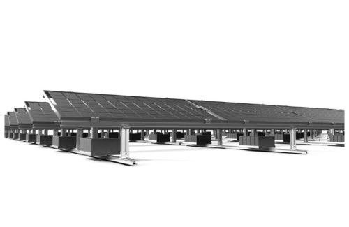 Opsun 发布用于平屋顶的第三代轨道式双面太阳能支架