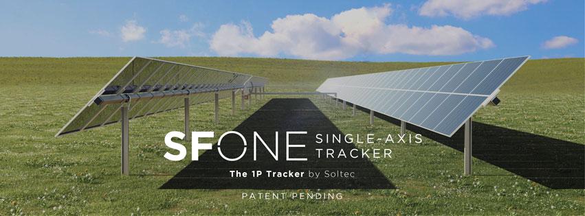 Soltec 推出新的 SFOne 太阳能跟踪器