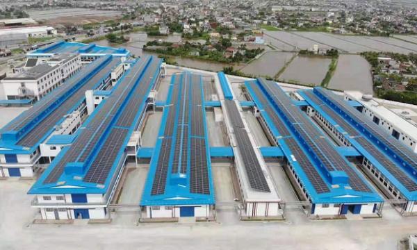 佛山聚高为越南2.5MW屋顶分布式电站提供光伏支架